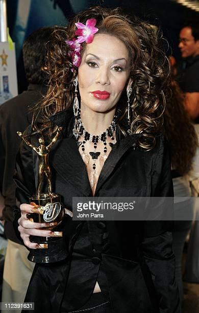 Ivy Queen during Premio Juventud AwardsBackstage at University of Miami Bankunited Center in Miami Florida United States