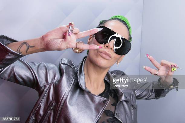 Ivy Queen during the Don Omar And Ivy Queen Song Launch Amame O Matame Don Omar Feat Ivy Queen at SBS Studios on April 14 2017 in Miami Florida