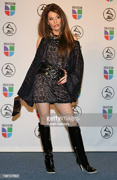 Ivy Queen performer during The 7th Annual Latin GRAMMY Awards Press Room at Madison Square Garden in New York City New York United States