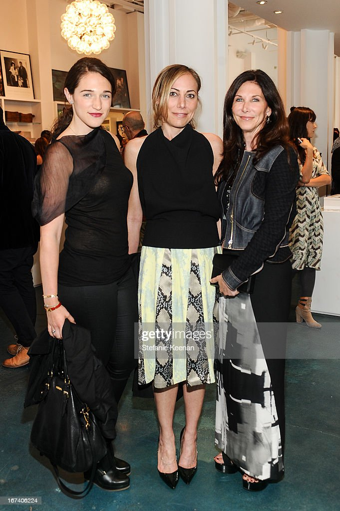 Ivy Taslitz, Angelique Soave and Kathy Taslitz attend Director's Circle Celebrates Wear LACMA, Sponsored By NET-A-PORTER And W at LACMA on April 24, 2013 in Los Angeles, California.