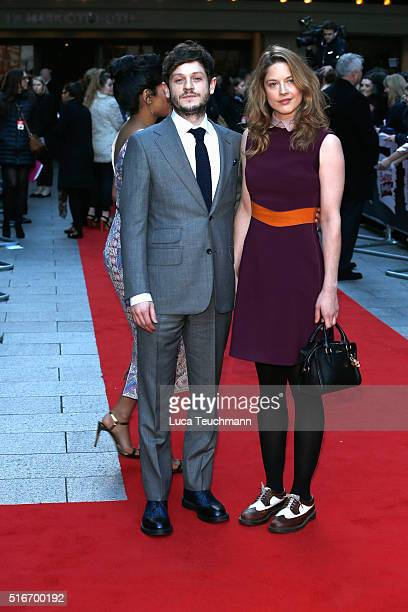 Iwan Rheon and Zoe Grisedale attend the Jameson Empire Awards 2016 at The Grosvenor House Hotel on March 20 2016 in London England