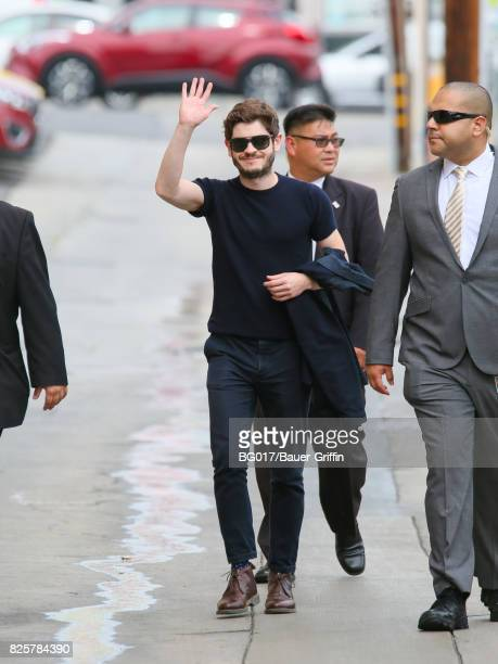 Iwan Rheon is seen arriving at 'Jimmy Kimmel Live' Show on August 02 2017 in Los Angeles California