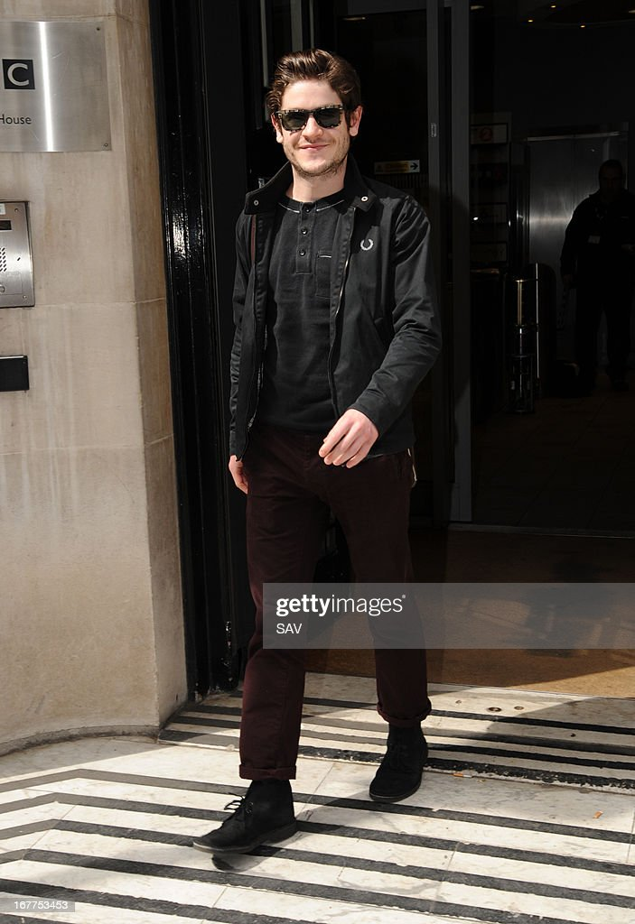 Iwan Rheon pictured at the BBC studios on April 29, 2013 in London, England.