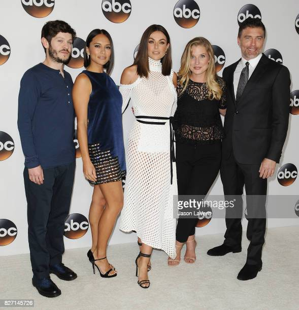 Iwan Rheon Sonya Balmores Serinda Swan Ellen Woglom and Anson Mount attend the Disney ABC Television Group TCA summer press tour at The Beverly...