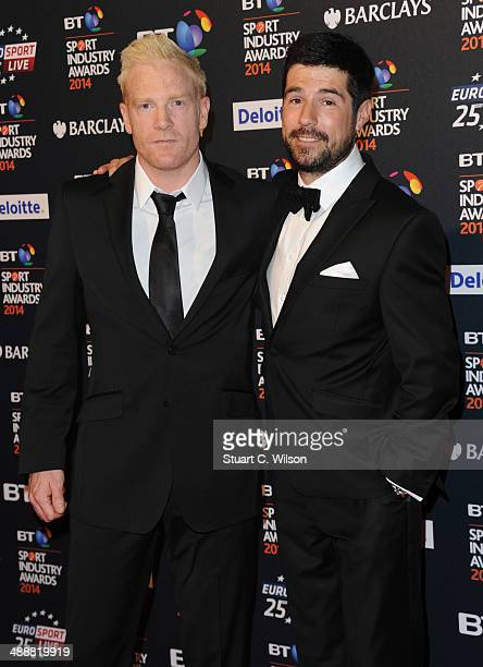 Iwan Thomas and Craig Doyle attend the BT Sport Industry Awards at Battersea Evolution on May 8 2014 in London England