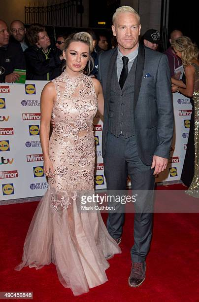 Iwan Thomas and Ola Jordan attend the Pride of Britain awards at The Grosvenor House Hotel on September 28 2015 in London England