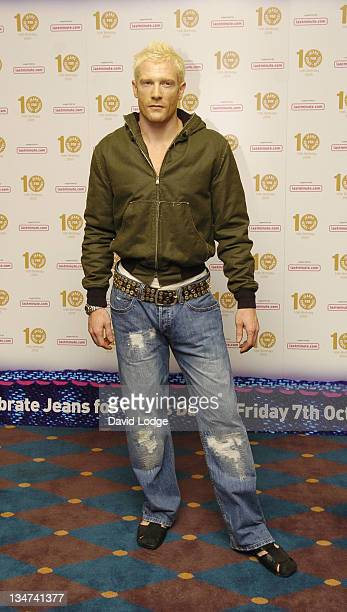 Iwan Thomas during From High Street to Haute Couture Jeans for Genes Fashion Show Arrivals at InterContinental Hotel in London Great Britain