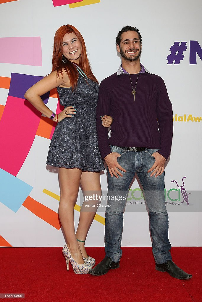 Ixpanea and Ryan Hoffman attend the MTV Millennial Awards 2013 at Foro Corona on July 16, 2013 in Mexico City, Mexico.