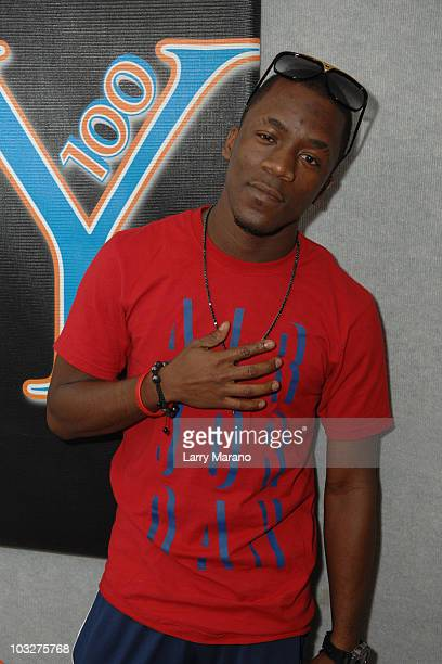 Iyaz visits Y 100 radio station on August 6 2010 in Miami Florida