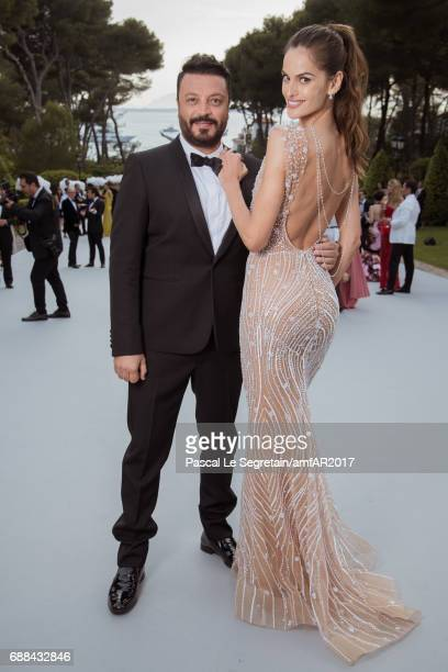 Izabel Goulard and Zuhair Murad attend the amfAR Gala Cannes 2017 at Hotel du CapEdenRoc on May 25 2017 in Cap d'Antibes France