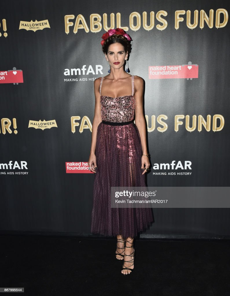 Izabel Goulart at the 2017 amfAR & The Naked Heart Foundation Fabulous Fund Fair at the Skylight Clarkson Sq on October 28, 2017 in New York City.