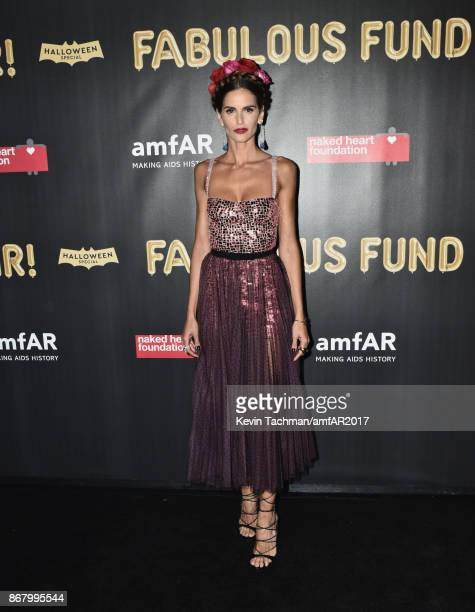 Izabel Goulart at the 2017 amfAR The Naked Heart Foundation Fabulous Fund Fair at the Skylight Clarkson Sq on October 28 2017 in New York City