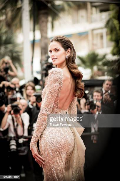 Izabel Goulart attends 'Amant Double ' Red Carpet Arrivals during the 70th annual Cannes Film Festival at Palais des Festivals on May 26 2017 in...