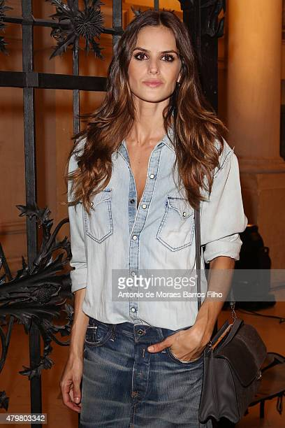 Izabel Goulart attends the Alexandre Vauthier show as part of Paris Fashion Week Haute Couture Fall/Winter 2015/2016 on July 7 2015 in Paris France