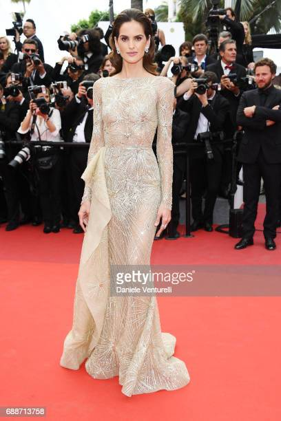 Izabel Goulart attends the 'Amant Double ' screening during the 70th annual Cannes Film Festival at Palais des Festivals on May 26 2017 in Cannes...
