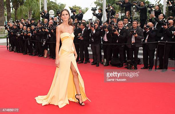 Izabel Goulart attends the closing ceremony and 'Le Glace Et Le Ciel' Premiere during the 68th annual Cannes Film Festival on May 24 2015 in Cannes...