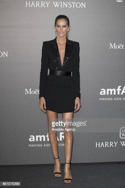 Izabel Goulart attends the red carpet of amfAR Gala Milan at La Permanente in Milano Italy on September 2017