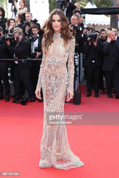 Izabel Goulart attends the 'The Beguiled' screening during the 70th annual Cannes Film Festival at Palais des Festivals on May 24 2017 in Cannes...