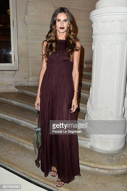 Izabel Goulart attends the Valentino Spring Summer 2016 show as part of Paris Fashion Week on January 27 2016 in Paris France