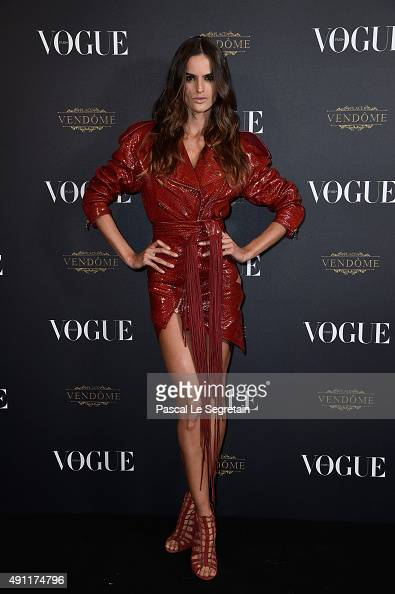 Izabel Goulart attends the Vogue 95th Anniversary Party on October 3 2015 in Paris France