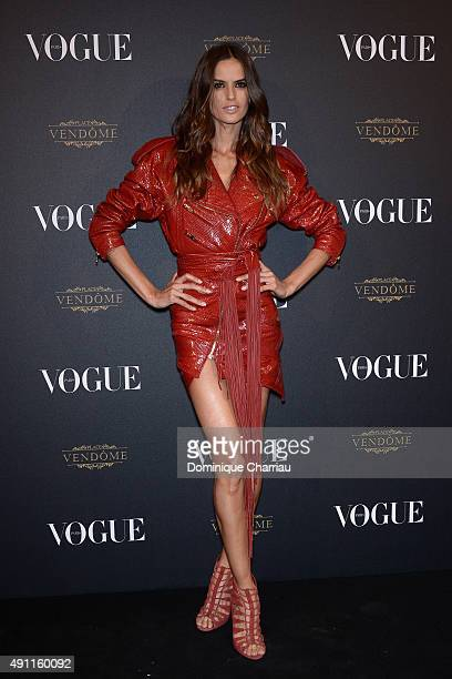 Izabel Goulart attends the Vogue 95th Anniversary Party Photocall as part of the Paris Fashion Week Womenswear Spring/Summer 2016 on October 3 2015...