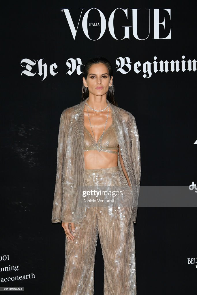 Izabel Goulart attends the Vogue Italia 'The New Beginning' Party during Milan Fashion Week Spring/Summer 2018 on September 22, 2017 in Milan, Italy.