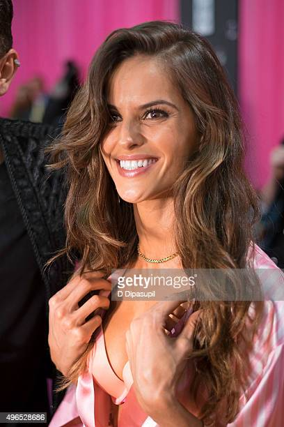 Izabel Goulart is seen backstage at the 2015 Victoria's Secret Fashion Show at the Lexington Armory on November 10 2015 in New York City