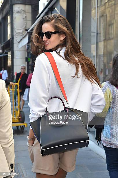 Izabel Goulart is seen during the Paris Fashion Week Ready To Wear S/S 2016 Day Four on October 2 2015 in Paris France