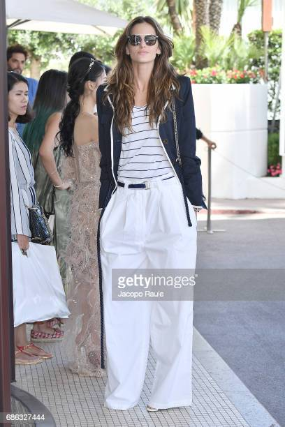 Izabel Goulart is spotted at Hotel Martinez during the 70th annual Cannes Film Festival at on May 21 2017 in Cannes France