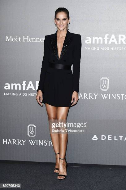 Izabel Goulart walks the red carpet of amfAR Gala Milano on September 21 2017 in Milan Italy