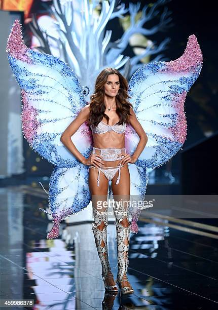 Izabel Goulart walks the runway at the annual Victoria's Secret fashion show at Earls Court on December 2 2014 in London England