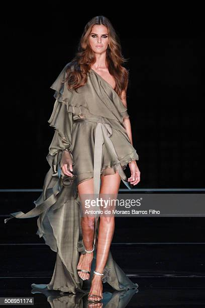 Izabel Goulart walks the runway during the Alexandre Vauthier Haute Couture Spring Summer 2016 show as part of Paris Fashion Week on January 26 2016...