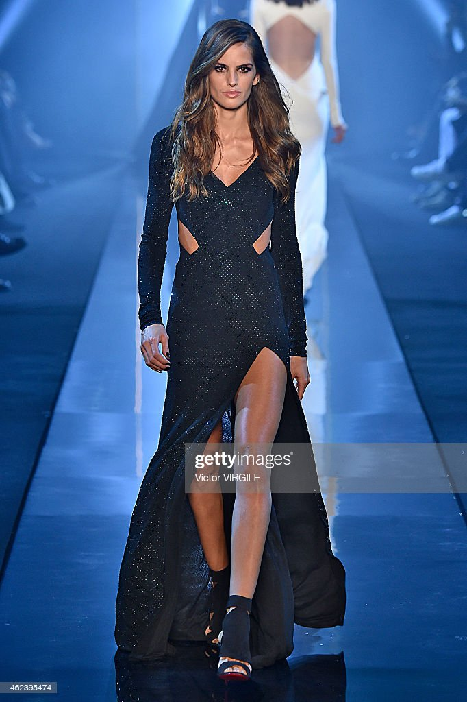 Izabel Goulart walks the runway during the Alexandre Vauthier show as part of Paris Fashion Week Haute Couture Spring/Summer 2015 on January 27 2015...