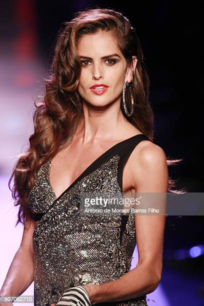 Izabel Goulart walks the runway during the JeanPaul Gaultier Haute Couture Spring Summer 2016 show as part of Paris Fashion Week on January 27 2016...