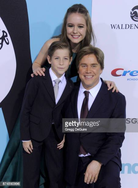 Izabela Vidovic Jacob Tremblay and director Stephen Chbosky arrive at the premiere of Lionsgate's 'Wonder' at Regency Village Theatre on November 14...