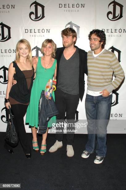Izabella Miko guest guest and Adrian Grenier attend DeLeon Tequila Cinco De Mayo Launch Party at Chateau Marmont on May 5 2009 in Hollywood California