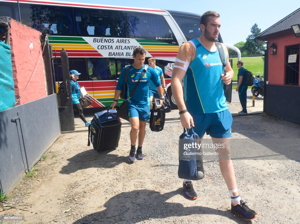 Izack Rodda of Australia looks on prior the Australia Team Announcement and Training Session ahead of the match against Argentina at San Isidro Club on October 05, 2017 in Buenos Aires, Argentina.
