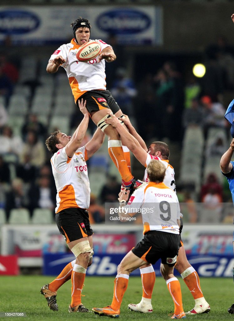 Izak van der Westhuizen of the Cheetahs during the Absa Currie Cup match between Toyota Free State Cheetahs and Vodacom Blue Bulls at Free State Stadium on August 17, 2012 in Bloemfontein, South Africa.