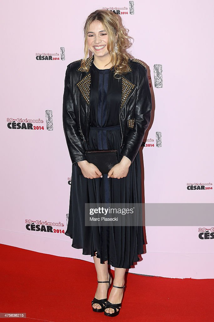 Izia Higelin arrives for the 39th Cesar Film Awards 2014 at Theatre du Chatelet on February 28, 2014 in Paris, France.