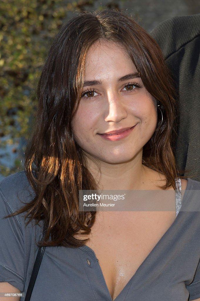 Izia Higelin attends 'Le Bout Du Tunnel' Paris Premiere at Cinema Louxor on April 14, 2015 in Paris, France.