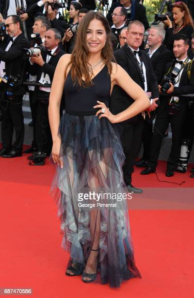 Izia Higelin attends the 70th Anniversary screening during the 70th annual Cannes Film Festival at Palais des Festivals on May 23 2017 in Cannes...
