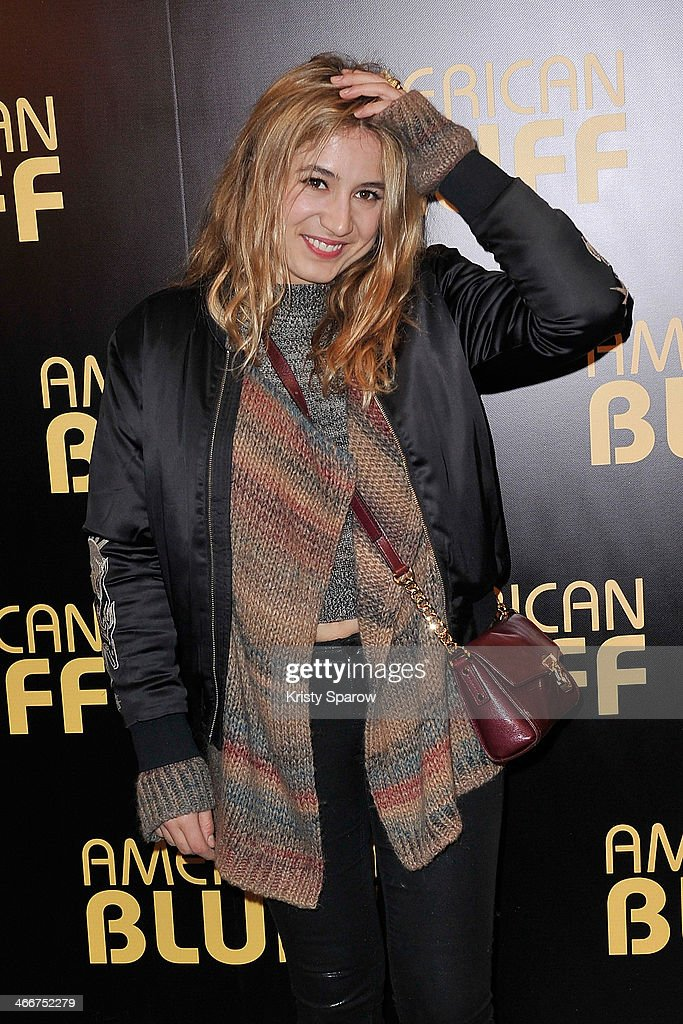 Izia Higelin attends the 'American Bluff' Paris Premiere at Cinema UGC Normandie on February 3, 2014 in Paris, France.