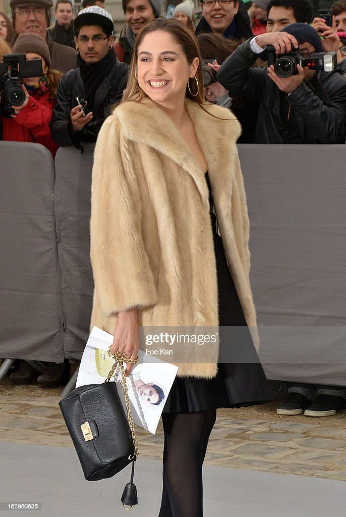 Izia Higelin attends the Christian Dior - Outside Arrivals - PFW F/W 2013 at Hotel des Invalides on March 1rst, 2013 in Paris, France.
