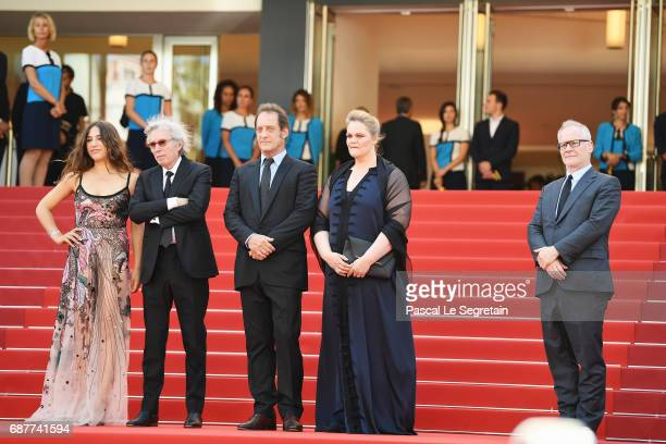 Izia Higelin Director Jacques Doillon Vincent Lindon and Severine Caneele attend the 'Rodin' screening during the 70th annual Cannes Film Festival at...