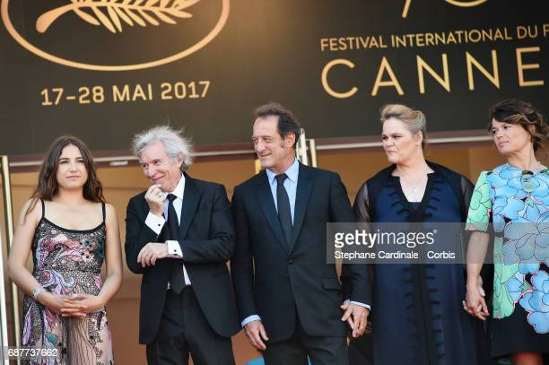 Izia Higelin director Jacques Doillon Vincent Lindon Severine Caneele and Kristina Larsen attend the 'Rodin' screening during the 70th annual Cannes...