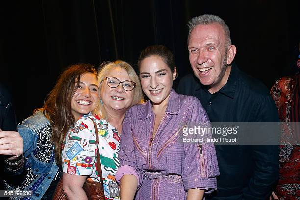 Izia Higelin Josiane Balasko her daughter Marilou Berry and stylist JeanPaul Gaultier pose after the Jean Paul Gaultier Haute Couture Fall/Winter...