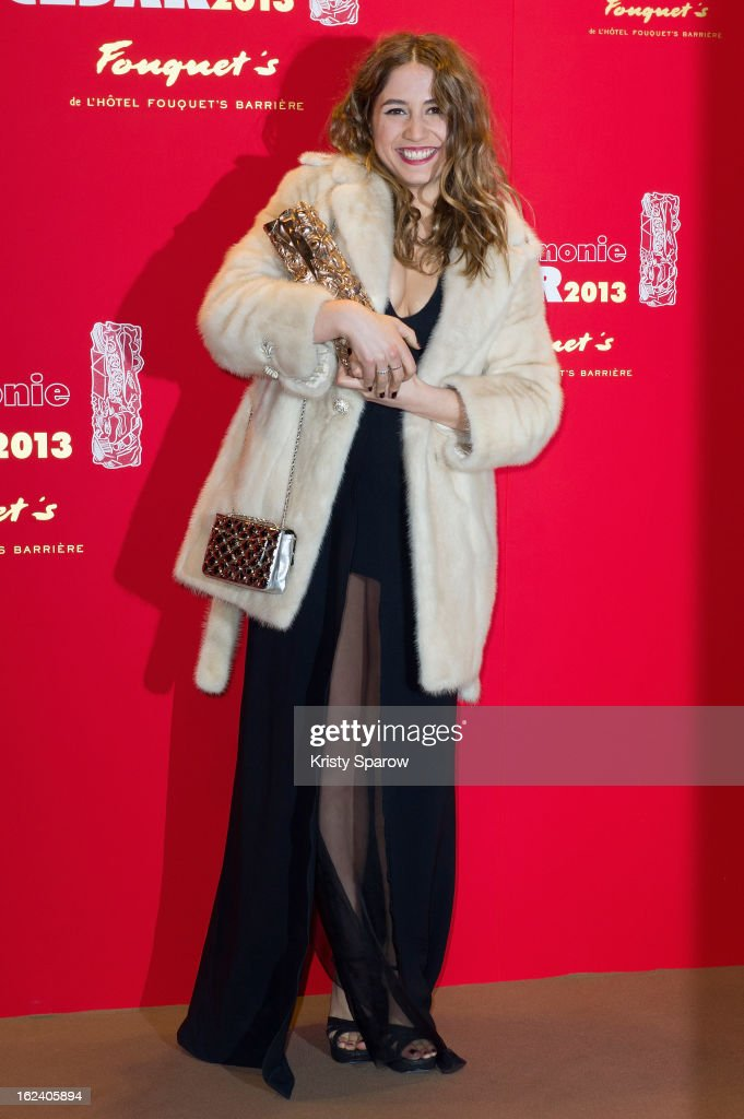 Izia Higelin poses with her trophy after winning the Best Newcomer Actress during the Cesar Film Awards 2013 at Le Fouquet's on February 22, 2013 in Paris, France.