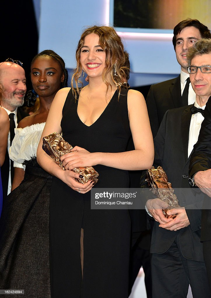 Izia Higelin receives the Best Young Actress Cesar for 'Mauvais fille' during the 37th Cesar Film Awards Cesar Film Awards 2013 at Theatre du Chatelet on February 22, 2013 in Paris, France.