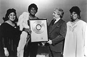 Izora Rhodes Dionne Warwick Sylvester and Martha Wash pose for a portrait backstage after completing a 3day engagement of the lineup of Sylester and...