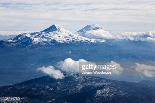 Iztaccihuatl and Popocatepetl Volc : Stock Photo